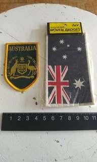 """Australia"" woven cloth badges"