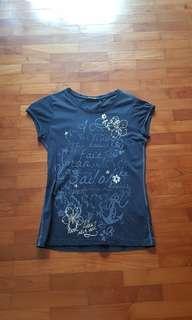 BN Mark Adam New york navy anchor sail floral top/ shirt