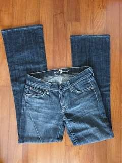 Authentic 7 for all mankind jeans sz 25 black grey wash