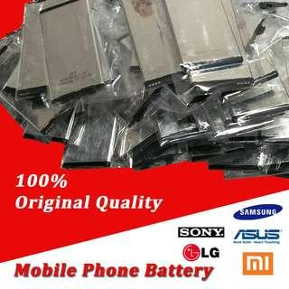 Mobile Phone Battery for Samsung, iPhone, Sony, LG, Xiaomi, OPPO...etc