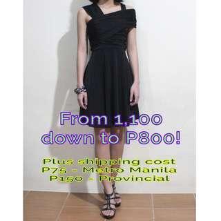 KARIMADON Cocktail Dress (w/ FREE matching Black Sandals & 8-pc Bangles)