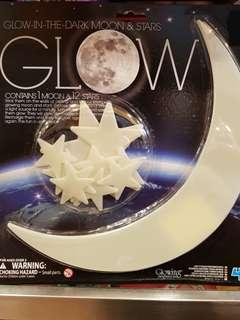 GLOW IN THE DARK MOON AND STARS (UNIQUE)
