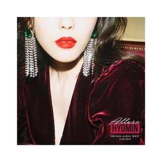 [Pre-order] HYOMIN 효민 (3RD MINI ALBUM 미니앨범) - ALLURE
