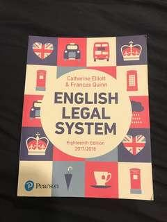 English Legal System + free ELS study book (a-levels and degree)