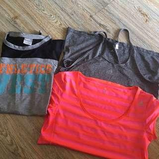 bundled gym top