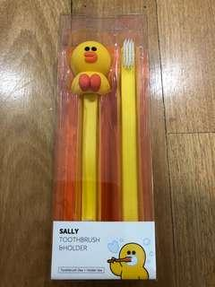 LINE FREINDS Sally - Toothbrush & Holder (2 Toothbrushes included)