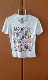 🚚 INK INC. smiley face glitter white top