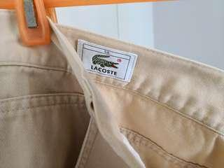 Lacoste, straight tapped casual pant for man, 60% new