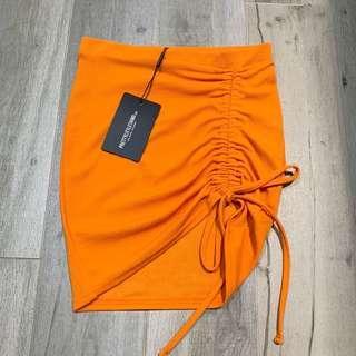 PLT Ruched mini skirt