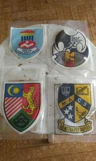 Asian Sports cloth badges