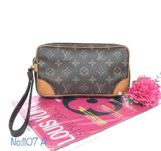 Authentic Louis Vuitton monogram Marly mini clutch bag