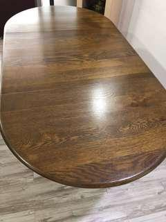 Very solid Teak wood dining table