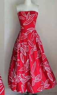 Red Tube Dress floral