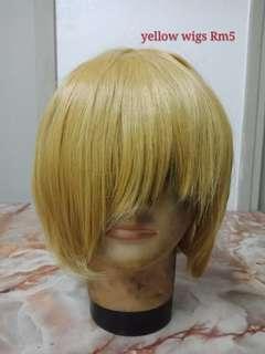 Yellow cosplay wig