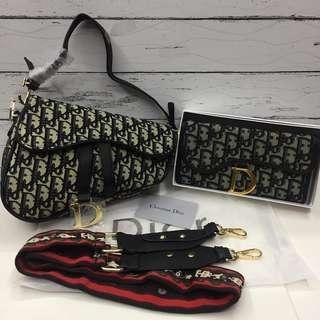 Sale 2,500 Set! Dior Saddle Oblique Bag & Wallet