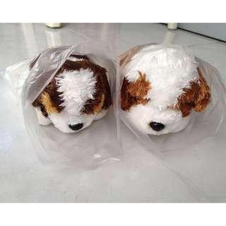 🚚 Stuffed Toy Puppies - 2 pairs, 1 pair SOLD