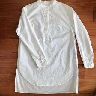 Urban Research 日本製 立領 襯衫 前短後長 不規則 亨利領 UR 男裝 女裝