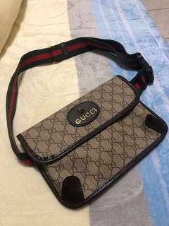 🚚 Gucci 虎頭腰包 日本古著購入