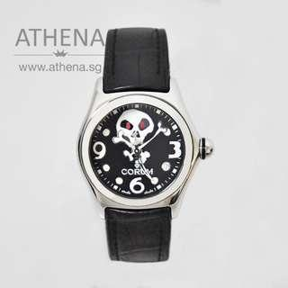 CORUM BUBBLE JOLLY ROGER QUARTZ LIMITED EDITION OF 1000 PIECES 039.260.20 WITH BOX & CERT JGWCR_016