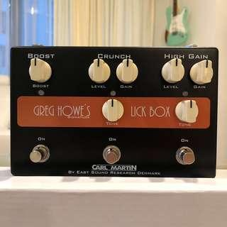 CARL MARTIN GREG HOWE's Lick Box Distortion Drive Boost Guitar Effect Pedal