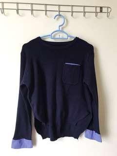 藍色長冷衫