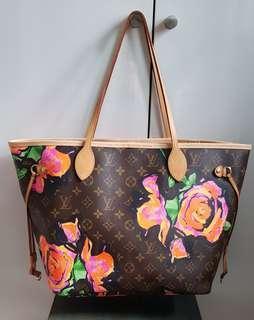 Louis Vuitton Steven Sprouse Roses Neverfull