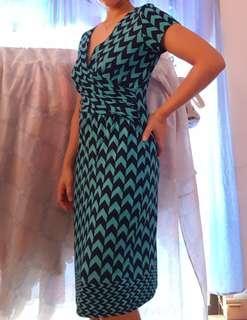 Green Aztec Midi Dress