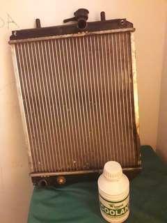 Original perodua radiator for viva elite etc. Free coolant liquid.