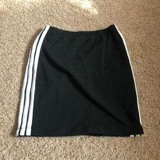 Adidas style fitted skirt