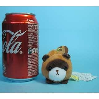 【Y219】浣熊 公仔吊飾 (約高 6cm)
