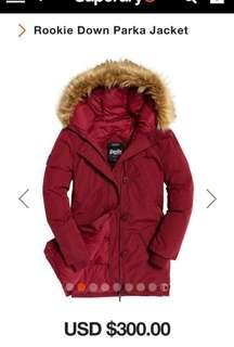 🚚 Superdry Rookie Down Parka Jacket (Real down)