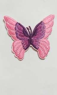 刺繡蝴蝶徽章