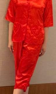 婚後物資 😘 新娘上頭套裝 + 男女上頭紅色睡衣 + 過大禮果籃 + 欄門花球