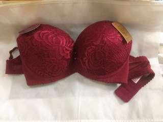BRA Push Up warna Merah
