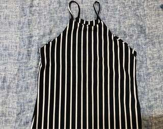 Black & White Stripes Spaghetti Dress from Bangkok