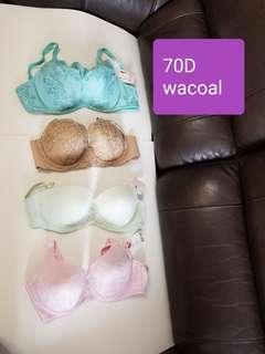 全新 Wacoal 70D bra 每個@$50 / 個