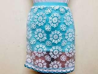 Sky Blue Ruffle Bangdage Skirt from Bangkok