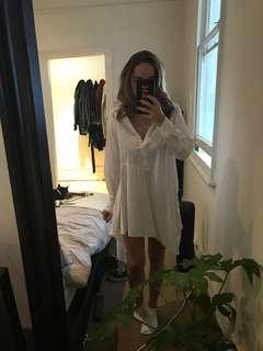 ZARA WHITE SHIRT DRESS