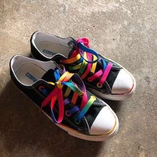 🚚 黑彩虹converse 帆布鞋
