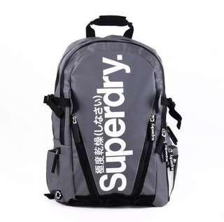 BNIB - Superdry (Grey) Water Resistant Backpack