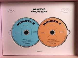 wts monsta x 2019 season's greetings 2019 DVD. 1 & 2