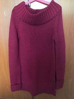 Off-shoulder Long Sweater