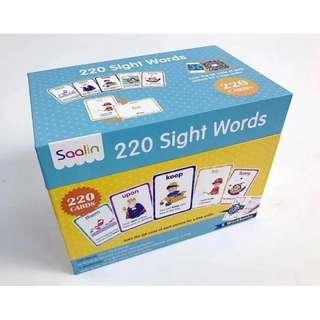 220 Sight Word Cards by Saalin
