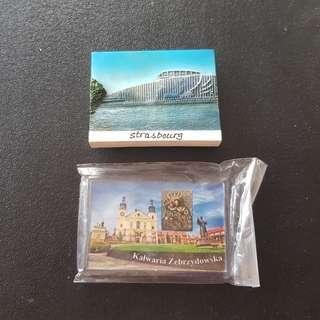 2 Fridge Magnets (France & Poland)