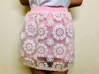 Pink Ruffle Bandage Skirt from Bangkok