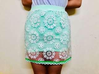 Mint Ruffle Bandage Skirt from Bangkok