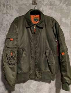 Tactical Olive Green Flight MA-1 Bomber Jacket