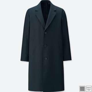 UNIQLO U | 羊毛混紡徹斯特大衣(深藍色)