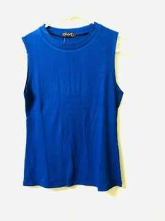 Knitted Sleeveless Top (Blue)