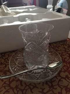 土耳其茶具連匙 Turkish tea set Istanbul kristal
